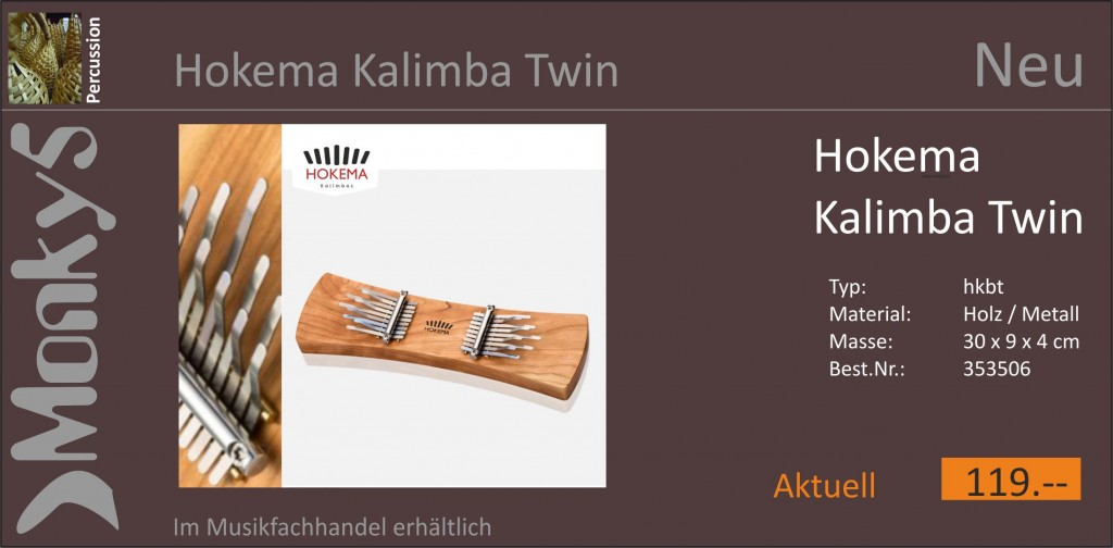 Percussion Hokema Twin Kalimba Neu 19.10