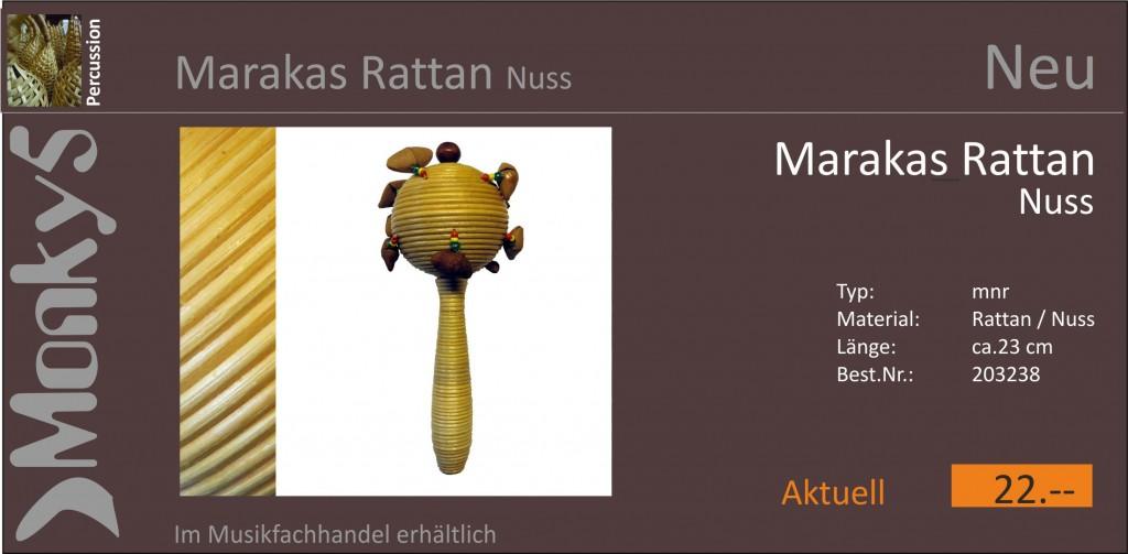 Percussion Marakas Rattan Nuss Neu 15.10