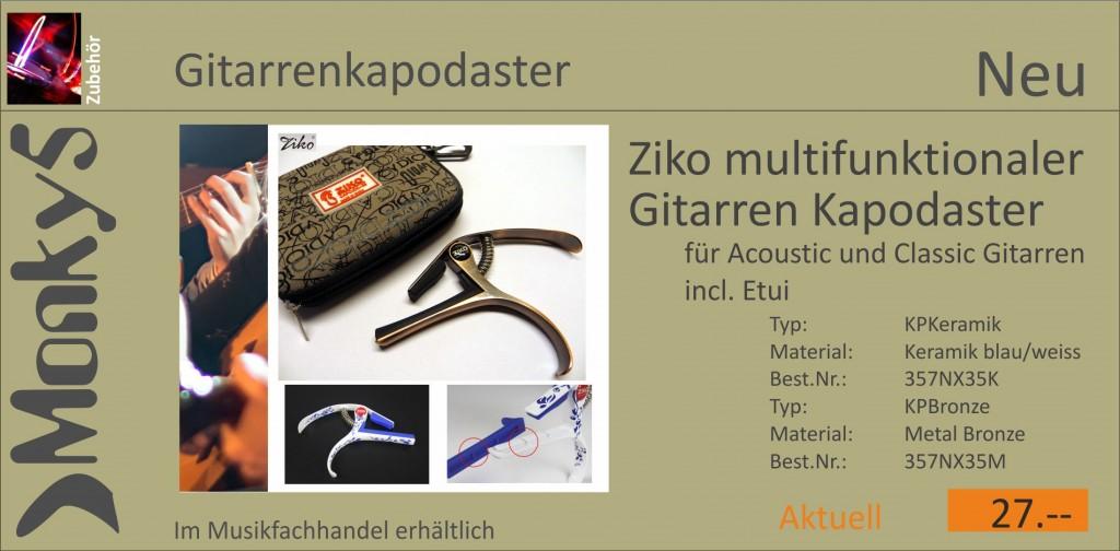 Zubehoer Gitarrenkapodaster Neu 18.05
